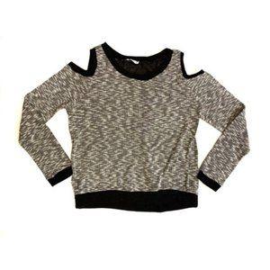Lush Open Shoulder Long Sleeve Sweater Women's